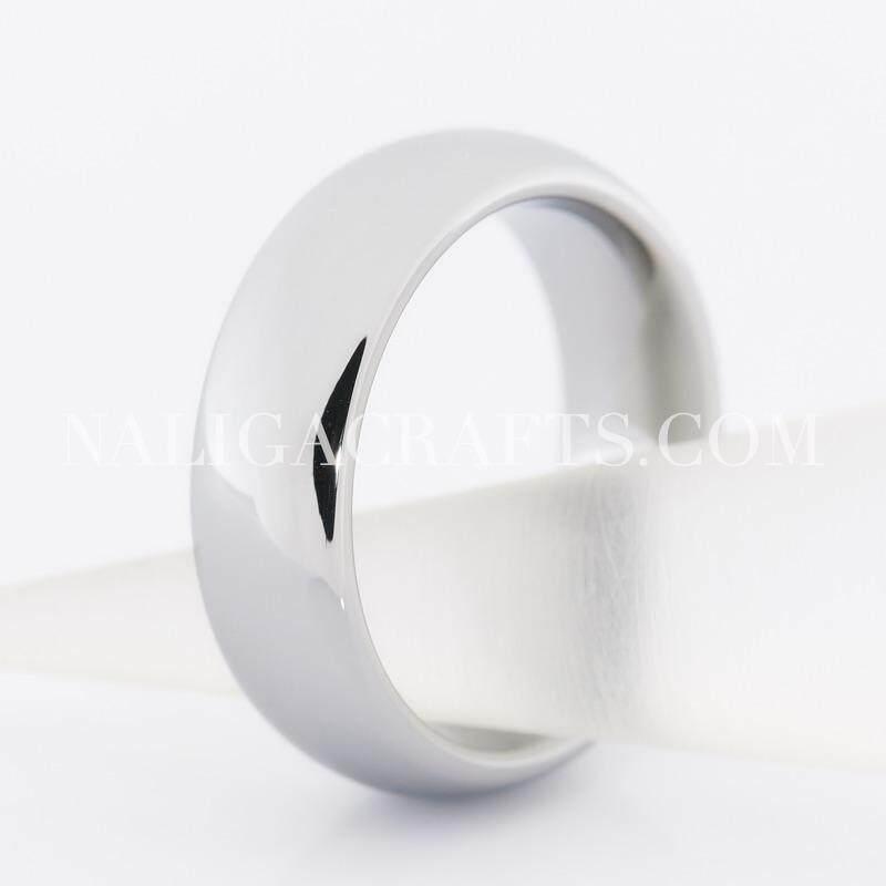 แหวนทังสเตนคาร์ไบด์คลาสสิคสีเงิน (หน้ากว้าง6มิลลิเมตร)