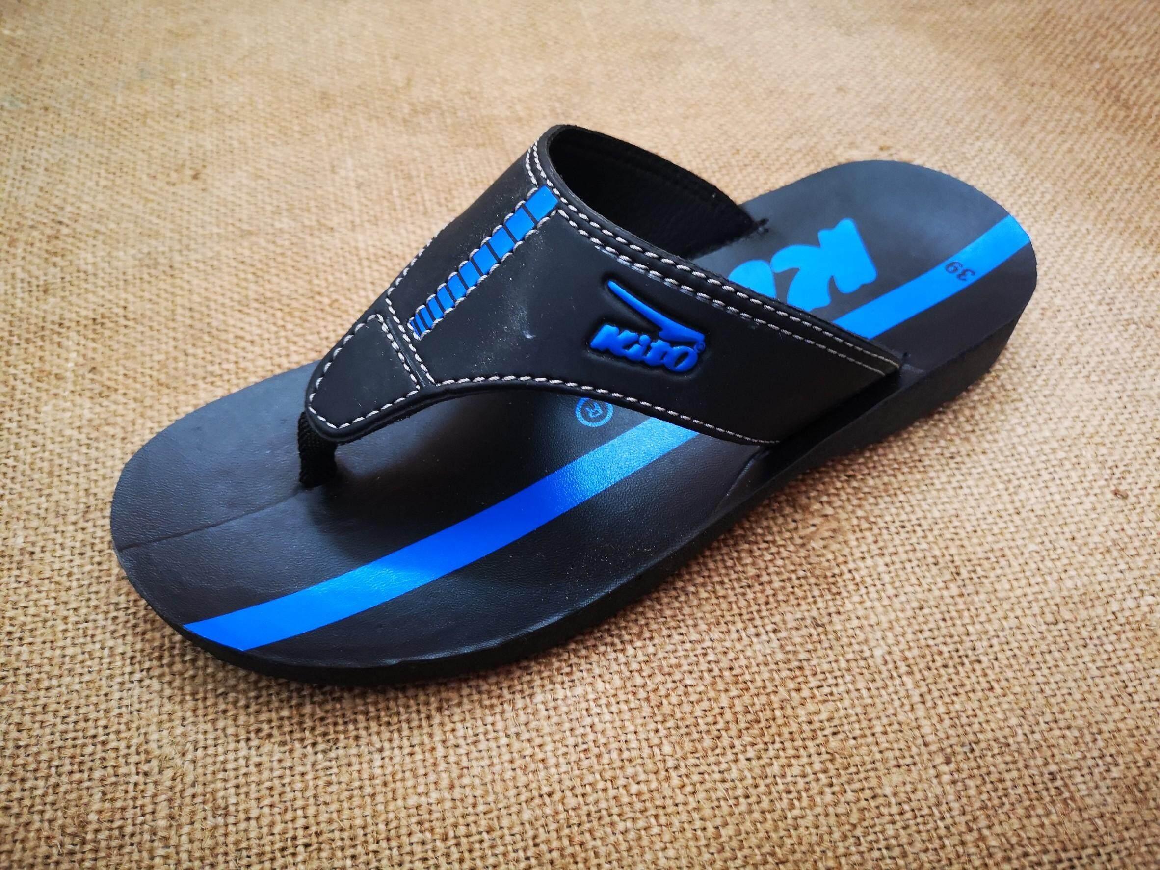 KITO รองเท้าแตะฟองน้ำผู้ชายหูหนีบ กีโตรองเท้าแตะหูหนีบบบคีบผู้ชาย รองเท้าใส่หน้าร้อน เที่ยวทะเล รองเท้ารุ่นฮิต รองเท้าผู้ชายลำลองแบบหนีบ สีฟ้า สีเหลือง สีเขียว 1011