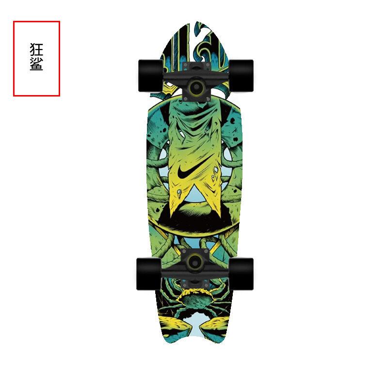 [72*20*12cm] Skateboard Tiktok เซิฟสเก็ตบอร์ด เซิร์ฟสเก็ต สเก็ตบอร์ดแท้ๆ เซิฟสเก็ต หางปลา กระดานโต้คลื่นบนบกที่สามารถใช้ได้ทั้งชายและหญิง