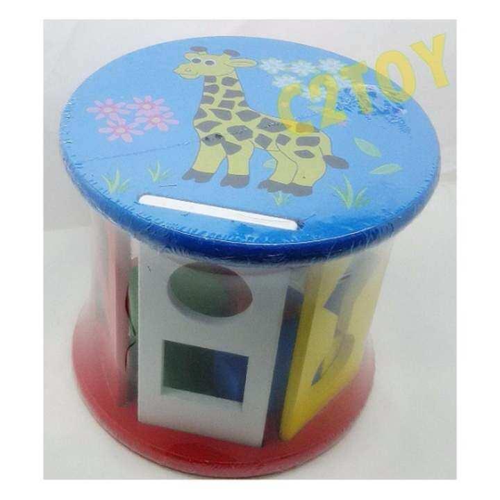 C2 toys- บล็อกหยอดไม้ ทรงกลม