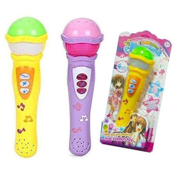 Kids Toys ไมค์ลอยดีไซน์น่ารัก ร้องเพลงได้ มีเสียงเพลง (สินค้าคละสี สดใสน่ารักทุกสีคะ)