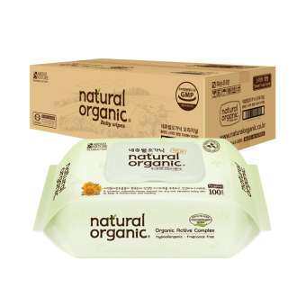 Natural Organic Original Plain Baby Wipes (Cap Type, 10 X 100Sheet)