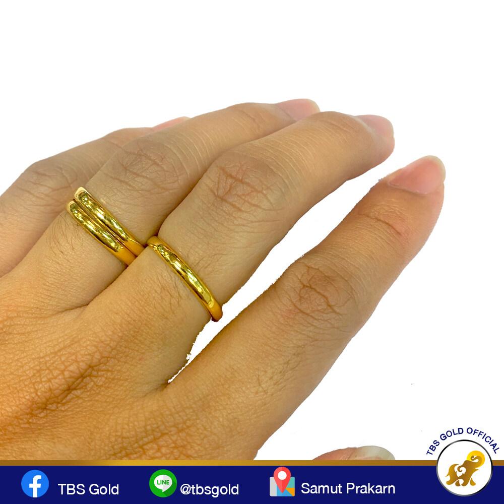 TBS แหวนทอง 1.0 กรัม เกลี้ยงปอกมีด ทองคำแท้96.5% ขายได้ จำนำได้ มีใบรับประกัน