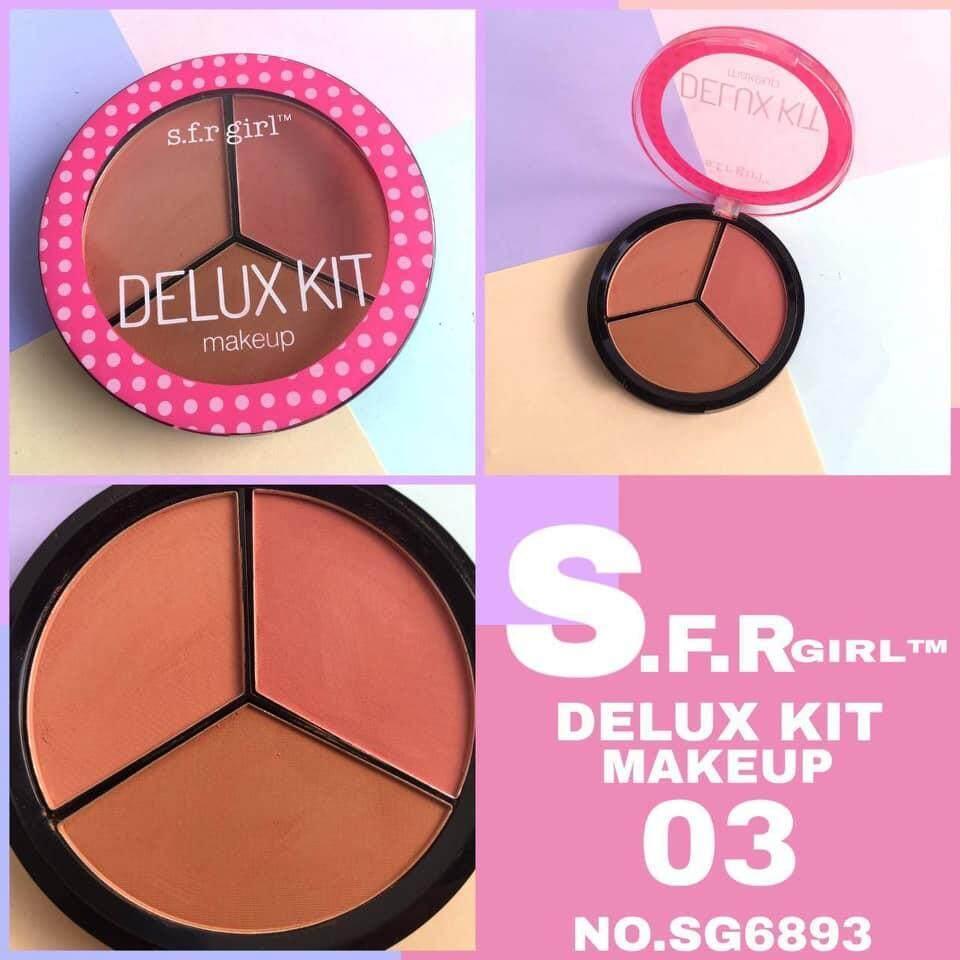 S.F.R Girl DELUX KIT MAKEUP NO.SG6893 บลัชออนตลับใหญ่คุ้มเวอร์ บลัชออนสีพีช บลัชออนสีสุภาพ