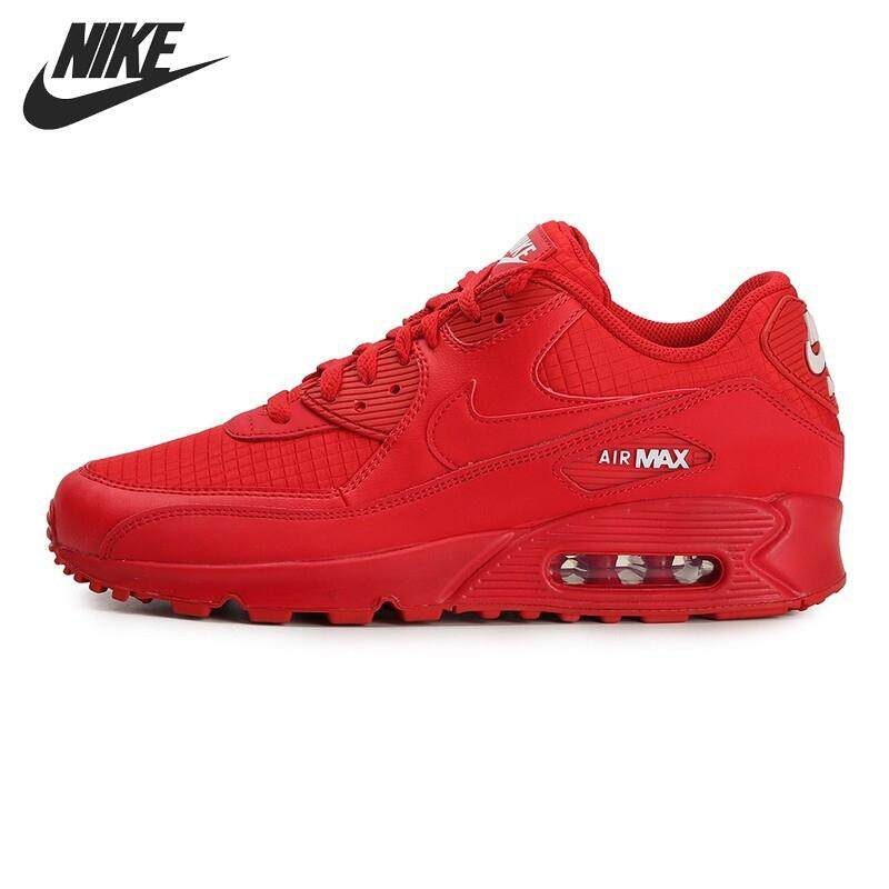สอนใช้งาน  ศรีสะเกษ Popular Nike_AIR_MAX_90_ESSENTIAL Men s Running Shoes Sneakers Red