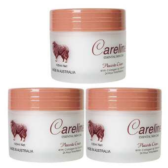 Careline Placenta Cream with Collagen & Vitamin E  ครีมรกแกะ 100ml.  (3 ชิ้น)