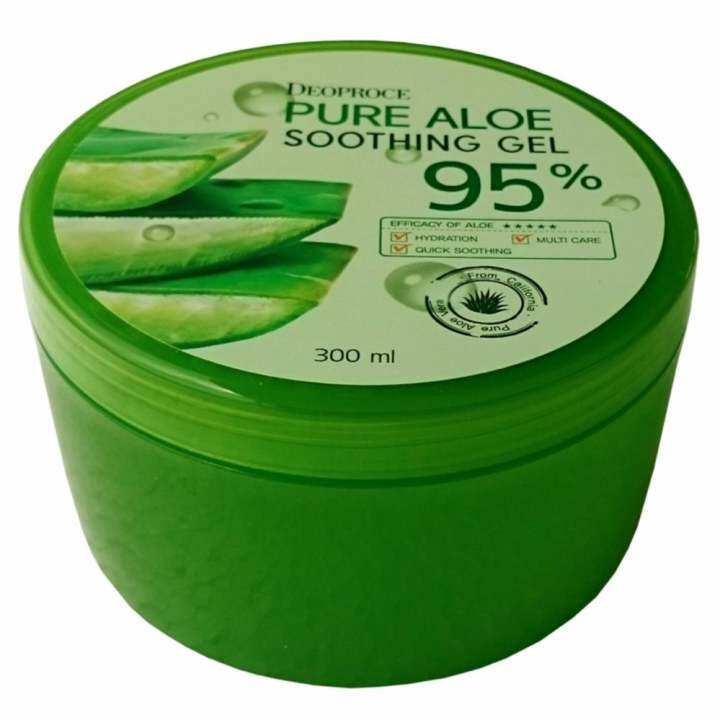 เจลว่านหางจระเข้ สูตรเย็นจากธรรมชาติ ดีโอพรอเช่ Deoproce Pure Aloe Soothing Gel 95% รุ่น MSK-AL2557 : ลดการอักเสบของผิวจากแสงแดด