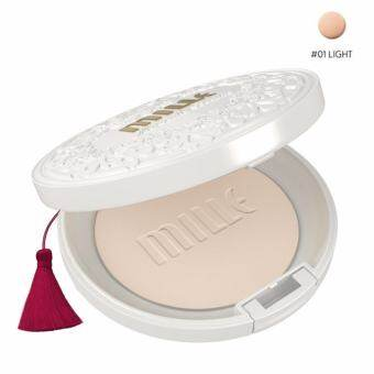 MILLE SUPER WHITENING GOLD ROSE PACT SPF48 PA+++ #1 LIGHT สำหรับผิวขาวเหลือง