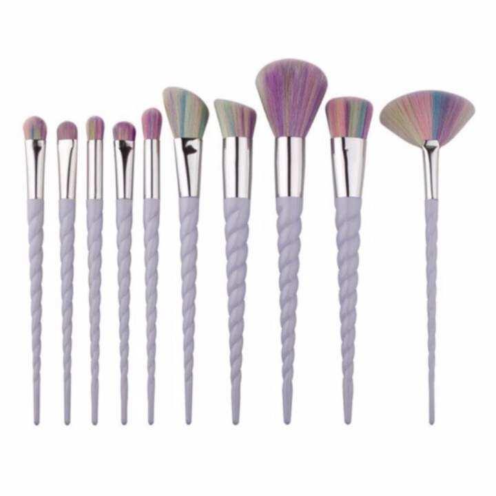 Namita แปรงแต่งหน้ายูนิคอร์น แปรงยูนิคอร์น Unicorn Brush Set Makeup Cosmetic Tool 10 ชิ้น