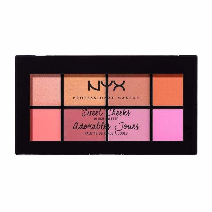 นิกซ์ โปรเฟสชั่นแนล เมคอัพ สวีท ชีค บลัช พาเลท - SCBP01 บลัชออน NYX Professional Makeup Sweet Cheeks Blush Palette - SCBP01 Blushes ( เครื่องสำอาง _ บลัชออน )