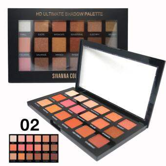 SIVANNA COLORS HD Ultimate Shadow Palette : HF 375 No.02 พาเลท 18สี