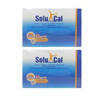Solucal โซลูแคล Calcium Collagen VitaminD3 30 Sachets x 2 Box