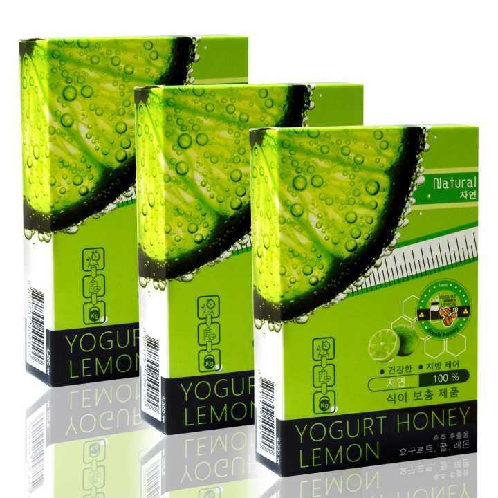 สยบ! ดราม่า Xอ้วนง่าย Xลงยาก Xดื้อยา Xลงพุง Xห่วงยางรอบตัว ลด! เหนียง ลองเลย! Yogurt Honey Lemon (10 แคปซูล x 3 กล่อง)
