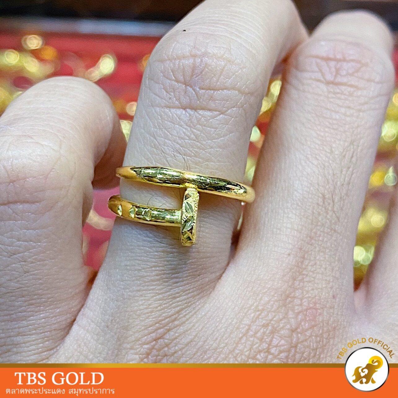 รีวิว TBS แหวนทอง 1 สลึง ตะปู คาเทียร์ หนัก 3.8 กรัม ทองคำแท้96.5% มีใบรับประกัน