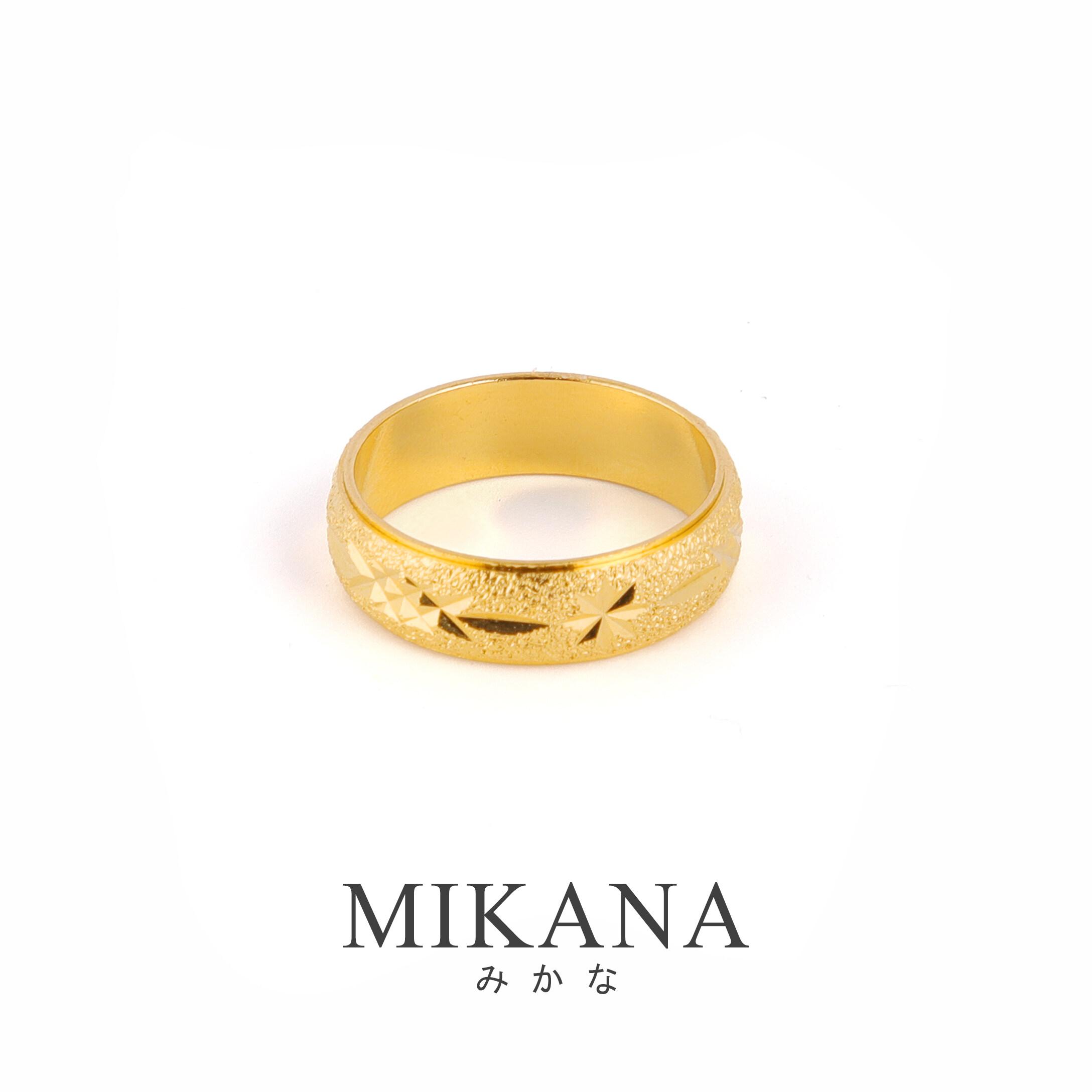 mikana แหวนทอง 18K สำหรับผู้หญิง แหวนสไตล์ตะวันตก 517r