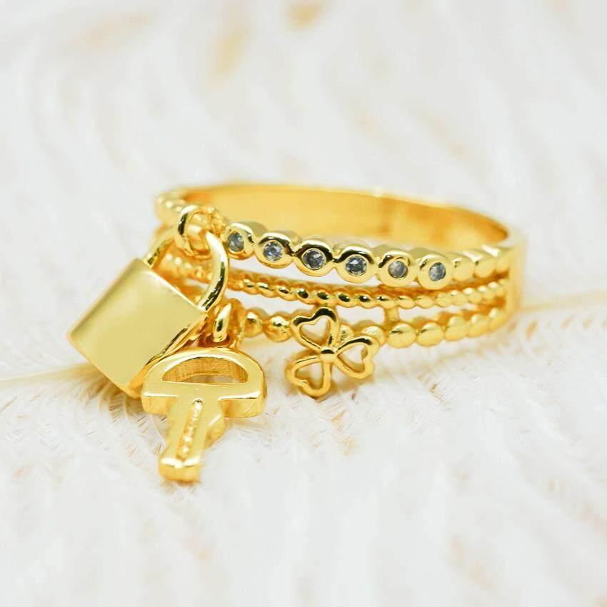 BEWI-G แหวนแฟชั่น แหวนห้อยกุญแจ ดีไซน์ Bvlgari ไม่ลอกดำ รุ่น BG-R0041