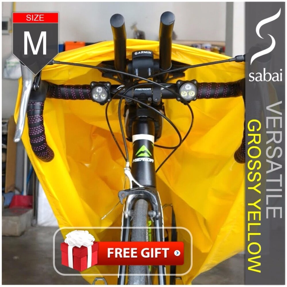 sabai cover ผ้าคลุมจักรยาน - รุ่น VERSATILE (Grossy Yellow) - [ SIZE M ] Bicycle Cover