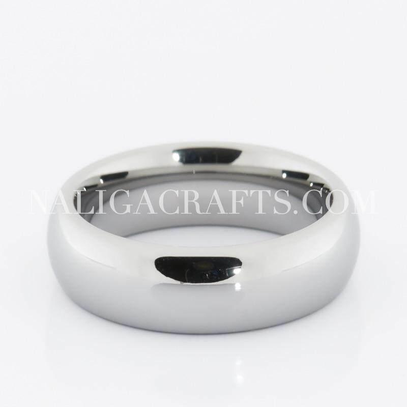 รีวิว แหวนทังสเตนคาร์ไบด์คลาสสิคสีเงิน (หน้ากว้าง6มิลลิเมตร)