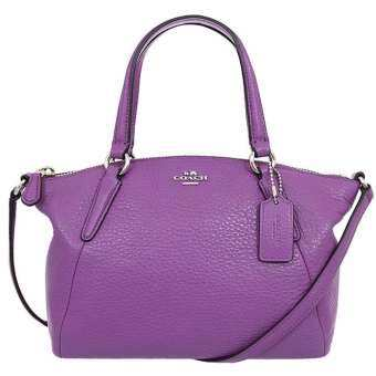 COACH F57563 MINI KELSEY SATCHEL IN PEBBLE LEATHER (MAUVE)