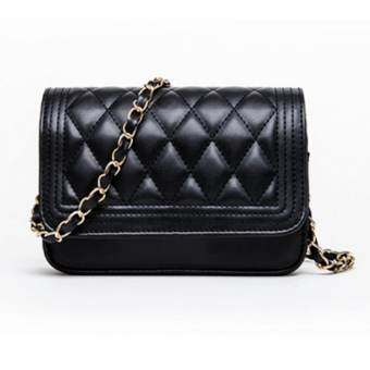 Crvid shop Fashion Small Bag Women Messenger Bags Soft PU Leather HandbagsCrossbody Bag No.0-7(Black)
