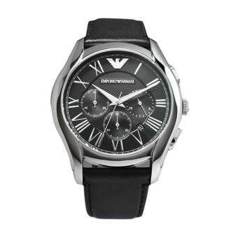 Emporio Armani นาฬิกาผู้ชายGents New Valente Leather Strap Watch AR1700 - Black