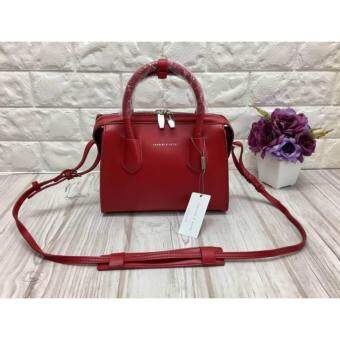 New arrival !!!CHARLES & KEITH DOUBLE ZIP STRUCTRED BAG 2017