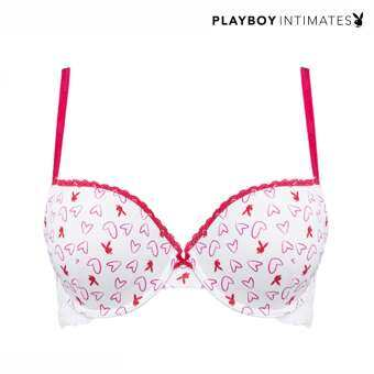 Playboy ชุดชั้นในดันทรง Playboy Intimates Play Heart Me Bunny Push up Bra