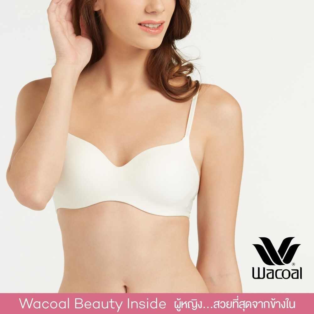 Wacoal Best Seller wireless bra บราไร้โครง 3/4 Cup - WB3A14