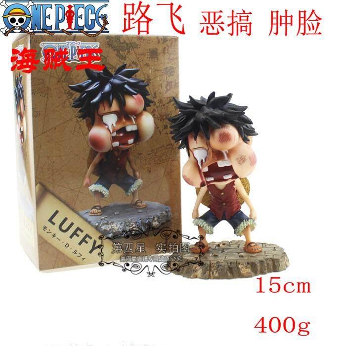 วันพีชหมวกฟางผู้บังคับการกรมยางผลไม้ Lu Fei zhong lian ล้อเลียนรุ่นใส่กล่องโมเดลตกแต่ง hand-made