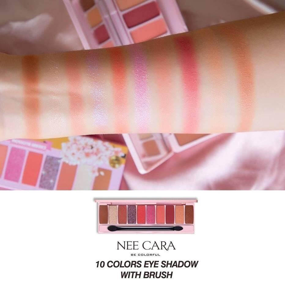 Nee Cara Eyeshadow Palette 10 สี [N125] #Cherry Blossom