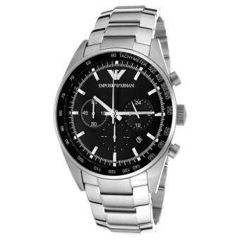 AR5980 Gents Stainless Steel  Face Armani Watch Stainless Strap - Black