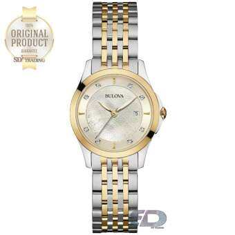 BULOVA Diamonds Quartz Women's Watch รุ่น 98S148 - Two Tone Silver/Gold Mother of pearl