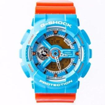 Casio G-Shock Men's Standard Digital Watch (Blue and Orange) GA-110NC-2A