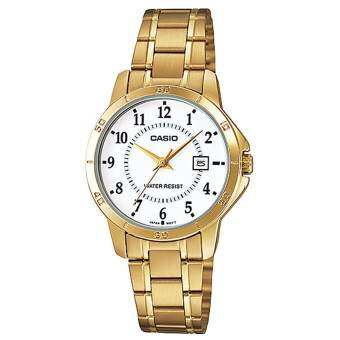 Casio standard Lady นาฬิกา  Gold Stainless Strap รุ่น LTP-V004G-7BUDF