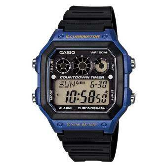 Casio Standard นาฬิกา Digital AE-1300WH-2AV (Black/Blue)
