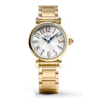 COACH 14501720 Madison Stainless Steel Gold Tone Women's Watch - White/Gold