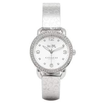 COACH Women's Delancey 28mm Bangle Watch Silver/Stainless Steel Watch 14502353