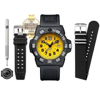 LUMINOX ประกันศูนย์ 2ปี XS.3505.SC.SET Special Edition (SCOTT CASSELL SPECIALS UVP :.3500 SERIES CaseBack Stainless Steel) - Black/Yellow
