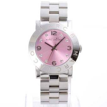 Marc By Marc Jacobs Women's Amy MBM3300 Silver Stainless-Steel Quartz Watch with Pink Dial