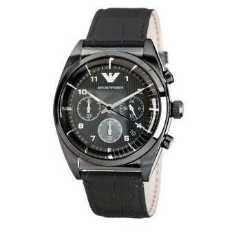 Men's Emporio Armani Chronograph Leather Band Watch AR0393