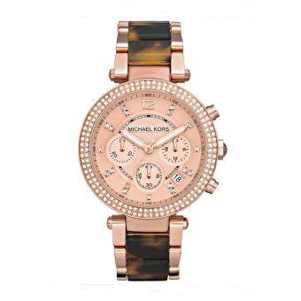 Michael Kors Ladies' Parker Chronograph Stainless Strap Watch MK5538 - Pink Gold