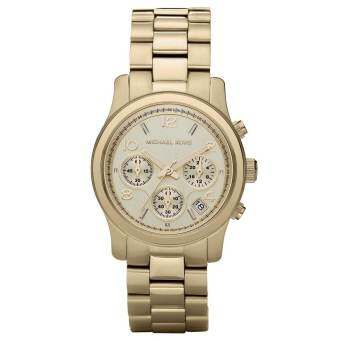 Michael Kors Runway Chronograph Womens Watch Stainless Steel MK5055 - Gold