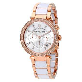 Michael Kors Watches Parker Watch MK5774 - White/Rose Gold