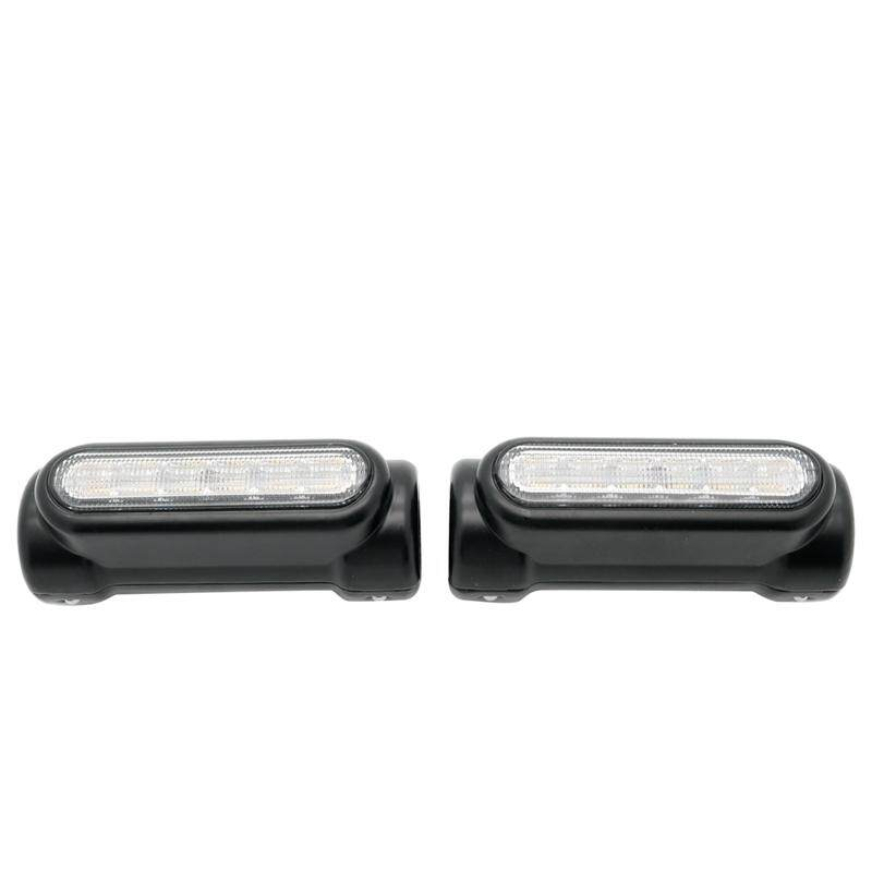 Motorcycle Led Highway Bar Switchback Driving Light/Turn Signal Light For Harley(Black)