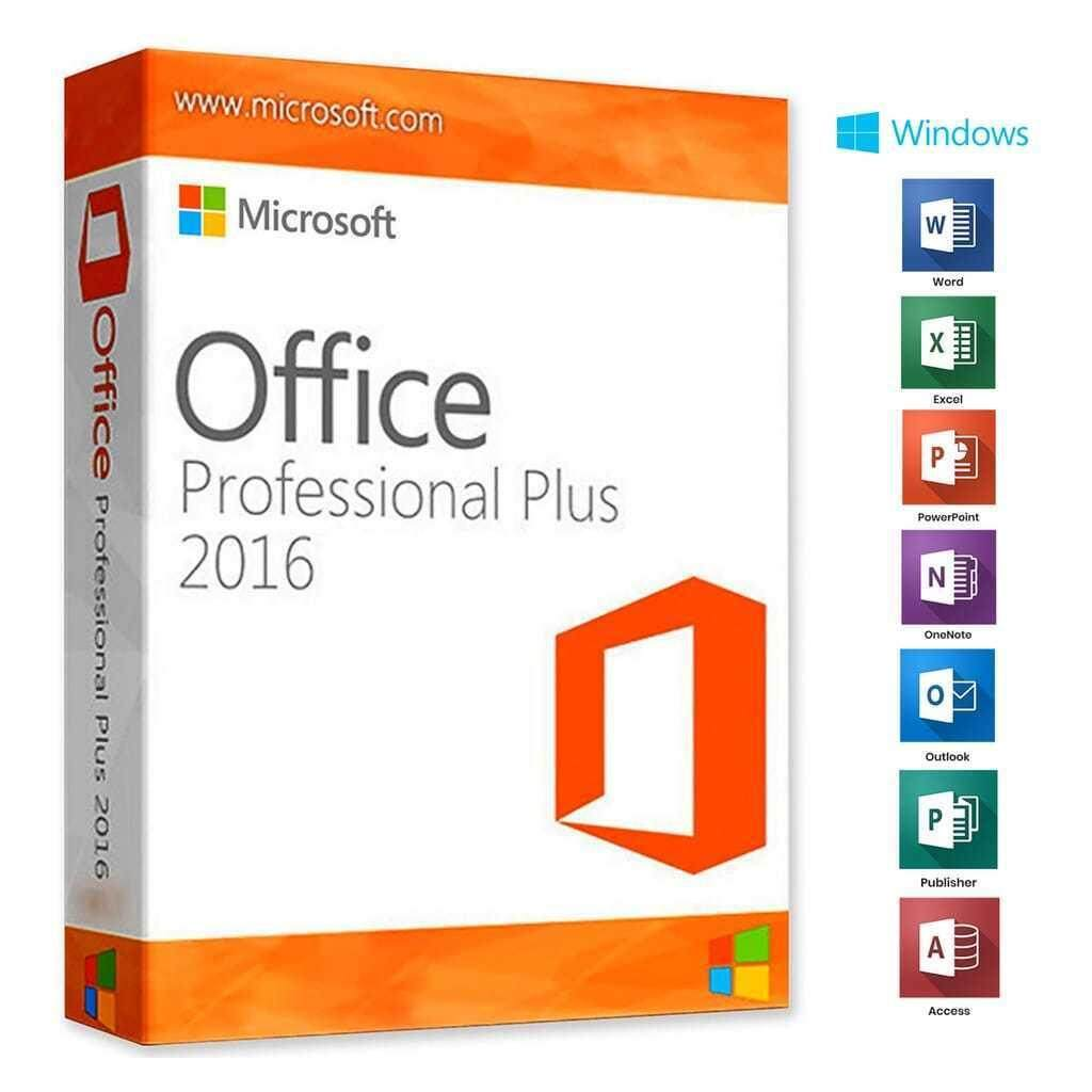 Microsoft Office 2016 Professional Plus คีย์แท้  [1PC]
