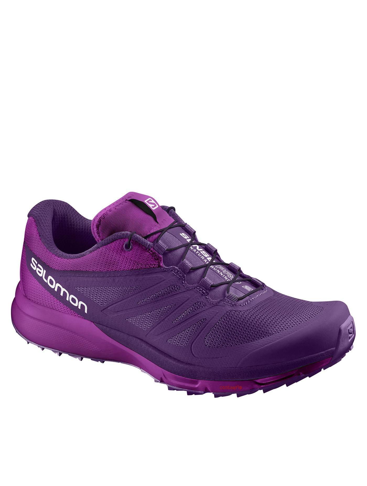 SALOMON รองเท้าวิ่งเทรลผู้หญิง Sense Pro2 L38158000 ไซส์ UK 6 สีม่วง-ชมพู
