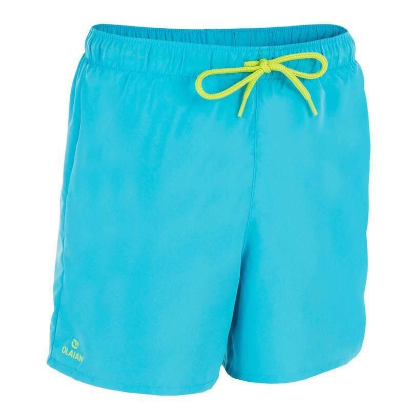 กางเกงชายหาดขาสั้นสำหรับเด็กรุ่น HENDAIA (สีเทอร์ควอยซ์ PREMS)
