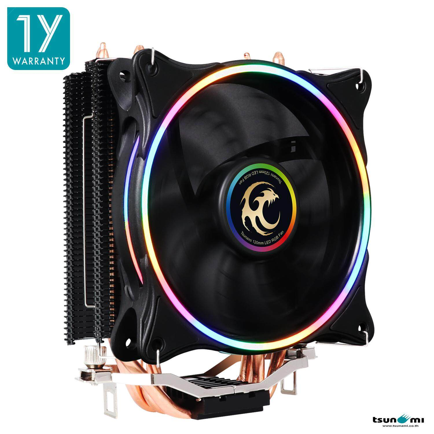 Tsunami Super Storm RGB 130W CPU COOLER TSS-2000  ( 4 HEAT PIPES + 12 CM NEON FAN) (P.W.M Function)(Intel/AMD Compatible)