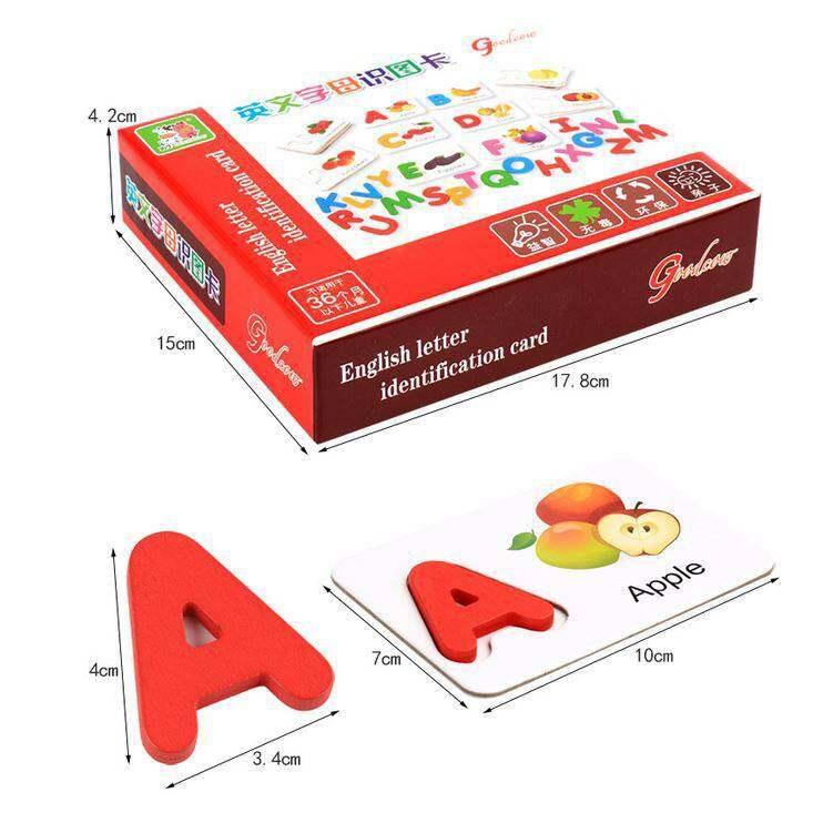รีวิว Kids Toys ของเล่นไม้ ของเล่นเสริมพัฒนาการ Flash Card จับคู่ ABC กับผักผลไม้