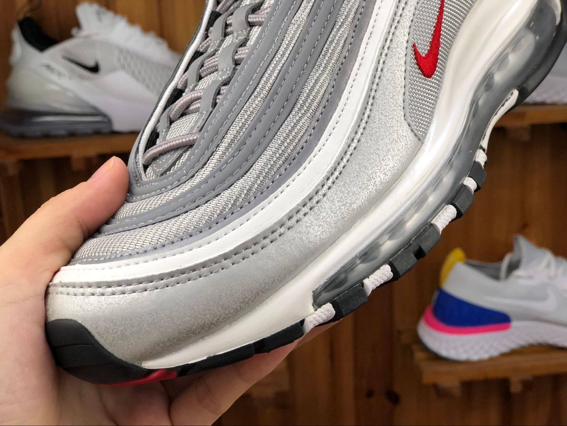 【แบรนด์ใหม่และเป็นของแท้】Nike AIR MAX 97 รองเท้าผู้ชาย รองเท้าสตรี รองเท้ากีฬา แฟชั่น รองเท้าลำลอง หนังแท้ รองเท้าวิ่ง 884421-001 ร้านค้าอย่างเป็นทางก